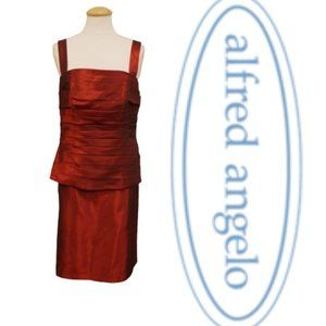 Alfred Angelo Cranberry 2 Pc. Dress NWT- Sz. 12